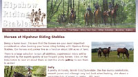 Hipshow Riding Stables website